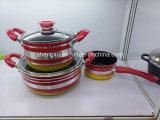 Aleación de aluminio recubierto antiadherente sartén y ollas para juegos de utensilios de cocina Sx-T006