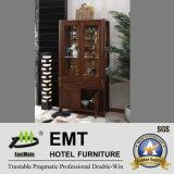 Cabinet en bois de vin de porte en verre pour la salle de séjour (JA-C-3002)