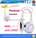 Lampe de bureau multifonctionnelle de haut-parleur de Bluetooth de détecteur de contact avec lumière chaude/froide/colorée