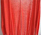 FrauenLongline Opean reine Farbeknit-Wolljacke