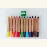 Woody Wax Crayons, 120mm Jumbo Color Pencils