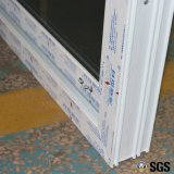 Vidrio del doble de la buena calidad con la puerta deslizante del perfil blanco del color UPVC de la red, puerta, ventana K02084