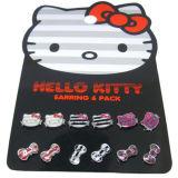 Netter verärgerter hallo-Miezekatze-Ohrring-und Schädel-Bogen-Ohrring für Kind-Ansammlung