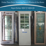 Aluminiumbadezimmer-Tür mit 1/3 oder halbes oder beendetes Aluminiumpanel