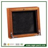 Caixa de relógio de madeira do Sandalwood natural com interior de veludo