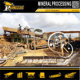 Macchinario di lavaggio di vibrazione dello schermo del crivello a tamburo dell'oro della strumentazione del setaccio di estrazione mineraria alluvionale