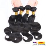 Extensión brasileña al por mayor del pelo humano de la Virgen sin procesar del pelo de Remy que teje