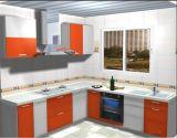 Projeto modular dos gabinetes de cozinha (folheado do PVC, da laca, da estratificação, o UV, o de madeira)
