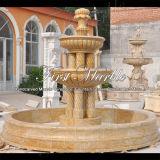 Fontana dorata Mf-1094 del granito della sabbia del giardino di pietra di marmo del granito