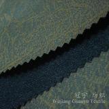 Tissu de cuir de suède de Microfiber avec bronzer le traitement pour le sofa