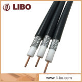 75 cable coaxial del tejido CATV Rg11 del ohmio con la chaqueta de PVC