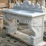 Lavabo di pietra di marmo di Metrix Carrara del lavabo del granito Mbm-003