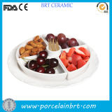 Bandeja do petisco de Ceramic da forma e Fruit Tray