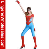 섹시한 여자의 놀라운 일 Spidergirl 더 가슴이 큰 복장