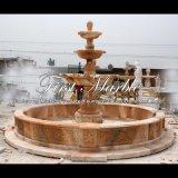 Fontana di marmo rossa di tramonto per la mobilia Mf-1027 del giardino