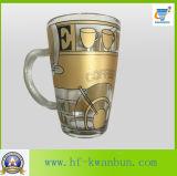 Матированное стекло с стеклоизделием Kb-Hn0729 кружки пива этикеты флористическим