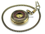 女性のためのHot Sale機械木のネックレスの吊り下げ式の壊中時計