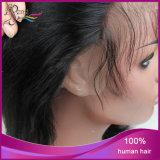 Pelucas de calidad superior humanas peruanas del frente del cordón del pelo del 100%