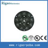 Asamblea negra blanca del PWB del aluminio LED de la electrónica de la goma de la soldadura 2014