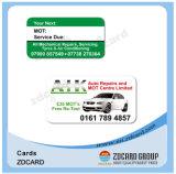 Tarjeta de visita plástica de la tarjeta de la tarjeta en blanco del PVC de la impresión 4color