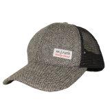 Sombrero de encargo del camionero de la parte posterior del acoplamiento del cáñamo con la escritura de la etiqueta tejida