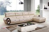 L sofá del cuero de la dimensión de una variable, sofá seccional de cuero, sofá de cuero italiano (662)