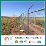 空港トゲの鉄条網/上塗を施してあるPVCによって電流を通されるチェーン・リンクの塀