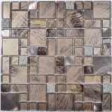 Het gemengde Eenvoudige Ontwerp van het mozaïek van het Glas van het Kristal