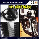 Пленка винила обруча автомобиля волокна углерода 5D предохранения от тела автомобиля лоснистая