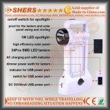Bewegliches Solar-LED-Licht mit 1W Taschenlampe, USB (SH-1971A)