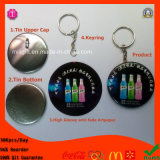 Emblema novo Keychain do Tinplate do PVC 50mm de Arriaval da fábrica 2015 com marca do GV