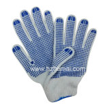 Doppi guanti industriali del lavoro di sicurezza della mano punteggiati PVC lavorati a maglia cotone