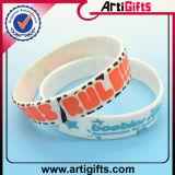 Bracelet large de silicones d'impression faite sur commande en bloc