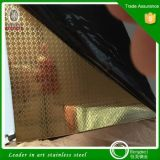 Punti poco costosi per vendere lo strato dell'acciaio inossidabile dello specchio dell'oro per la decorazione dell'hotel