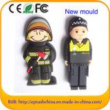 PVC警官USBのフラッシュ・メモリの消防士はカスタマイズしたペン駆動機構(例えば059)を