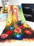Bufanda grande del algodón de la impresión de la flor