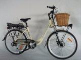 Bike Европ электрический тип женщины города 26 дюймов с батареей Jb-Tdf11z Samsung корзины