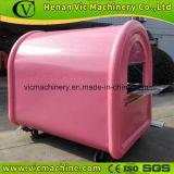 Acoplado rosado tan lindo del carro del alimento con diversa configuración