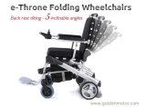 """황금 모터 E 왕위 8 LiFePO4 건전지를 가진 """" 12 """" 10 """" 무브러시 힘 Foldable 전자 휠체어"""