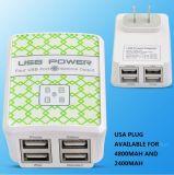 De nieuwe AC van de Adapter van de Macht van de Reis 4ports USB Lader van de Muur voor Smartphones en Tabletten