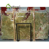 Hermosas placas de mármol verde transparente Onyx