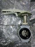 Клапан-бабочка вафли JIS 10k алюминиевая с рукояткой руки