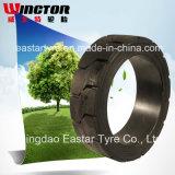 押固体タイヤ(9X5X5)の固体タイヤのフォークリフトのタイヤ
