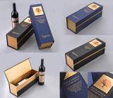 Caixa do vinho vermelho, caixa de papel do vinho. Caixa do vinho do cartão