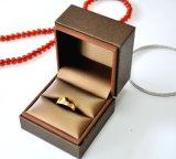 Caixa de presente de couro da embalagem da jóia da caixa de armazenamento da jóia do plutônio (YS378A)