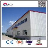 Casa prefabricada con el panel de pared de la estructura de acero y de emparedado