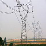 torre de acero de la transmisión de potencia del ángulo del trazador de líneas 550kv