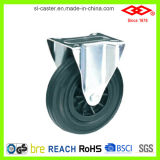 150mm örtlich festgelegte Platten-Fußrolle für Abfall-Sortierfach (D101-31C150X40)