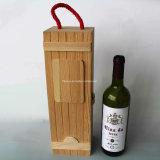 Rectángulo de madera del vino del nuevo del diseño color natural de la dimensión de una variable redonda