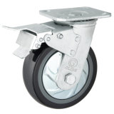 Heavy Duty PU Caster (Black) (Round Surface) (G4204D)
